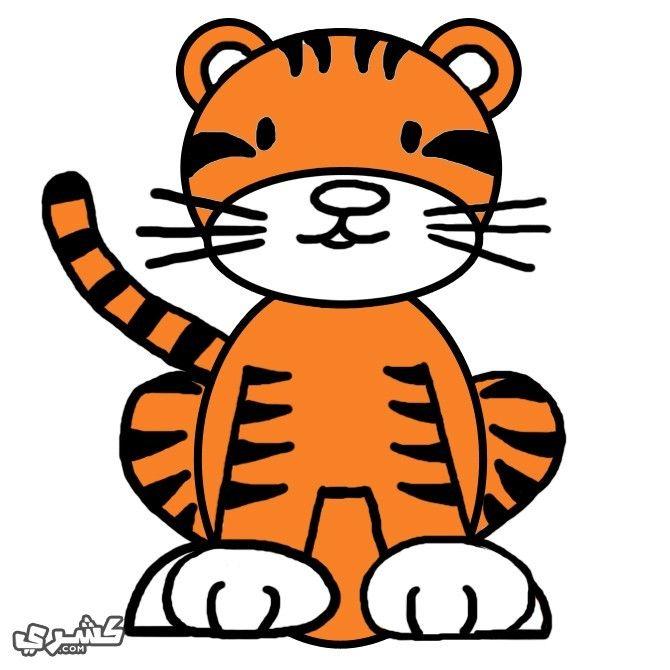 كيف ترسم نمر بالخطوات والصور Animal Posters Tiger Poster Tiger Face Paints