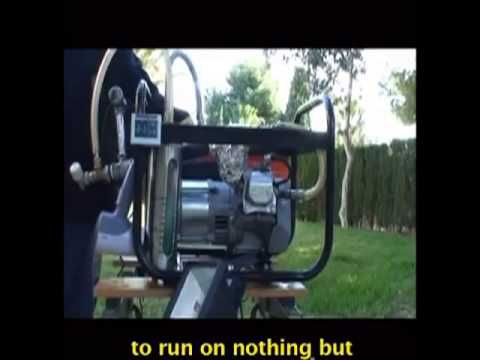 물 로 가동 되는  Motor.