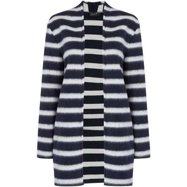 8cec33e1f7 Vila Striped Blazer ( 54) ❤ liked on Polyvore featuring outerwear ...