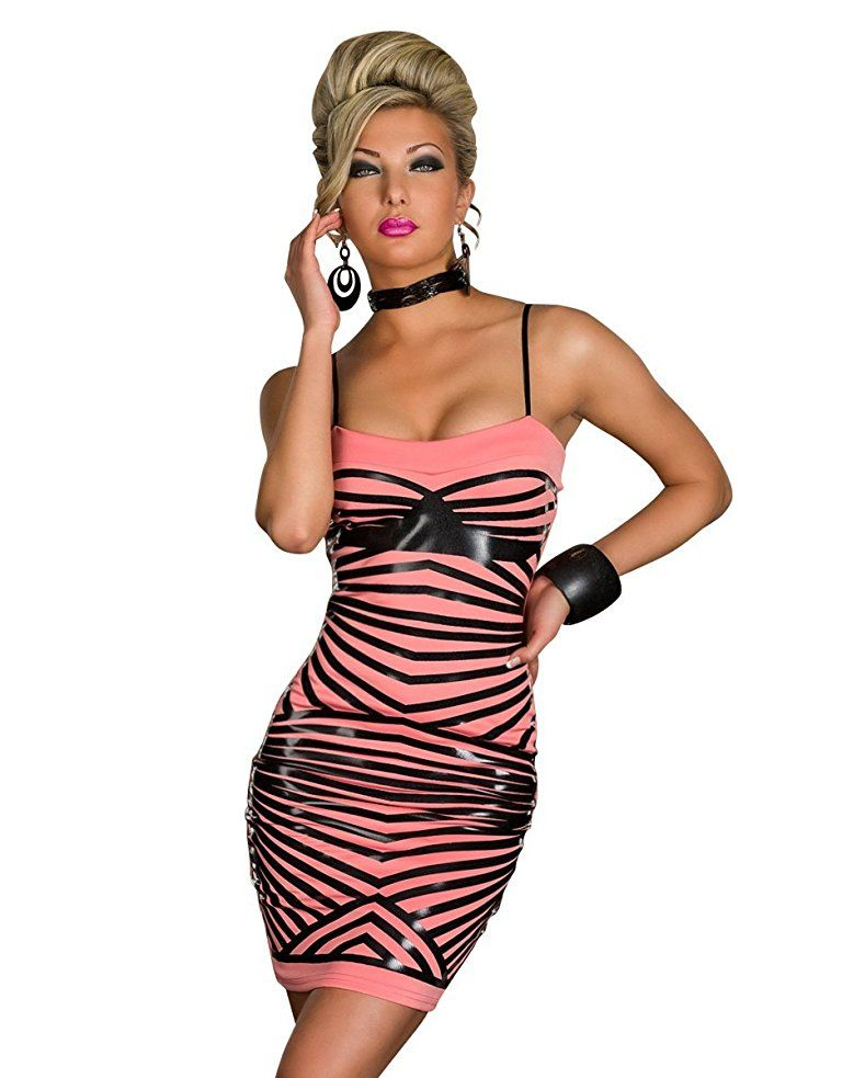 4153 Fashion4Young Damen Kleid Minikleid Abendkleid PartyKleid ...