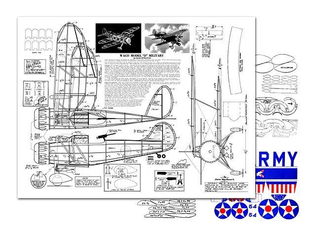 Waco Model D Military - plan thumbnail
