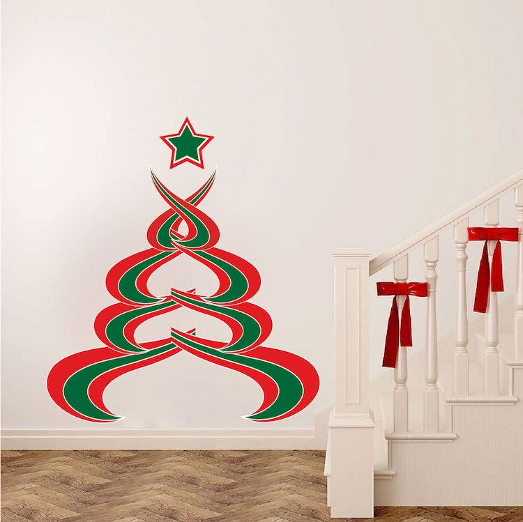 Abstract Christmas Tree Wall Decal Christmas Murals Primedecals