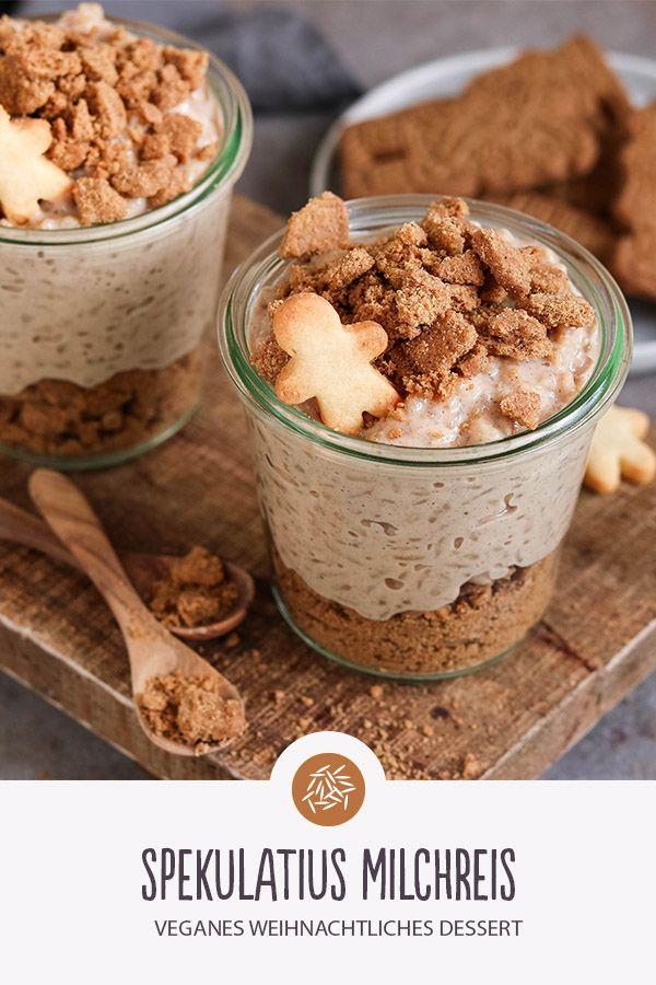 Rezept für Spekulatius Milchreis #bananadessertrecipes
