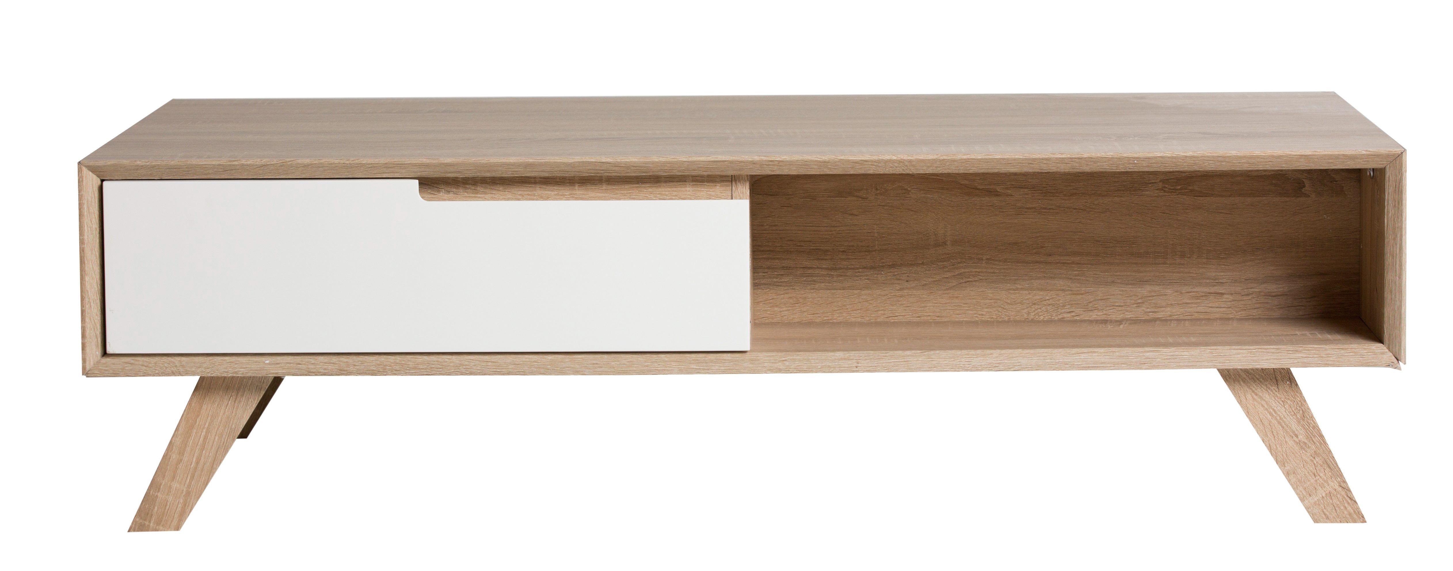 table basse gaby sonoma et blanc pour