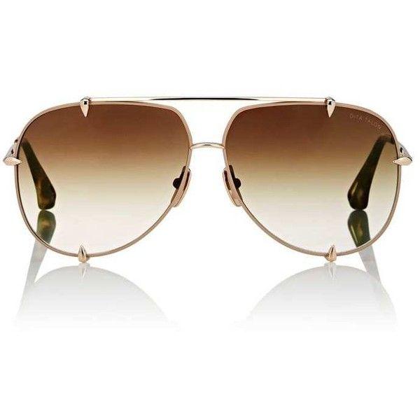 5cd401459 Dita Women's Talon Sunglasses ($515) ❤ liked on Polyvore featuring  accessories, eyewear, sunglasses, tan, tortoise aviator sunglasses, dita  sunglasses, ...