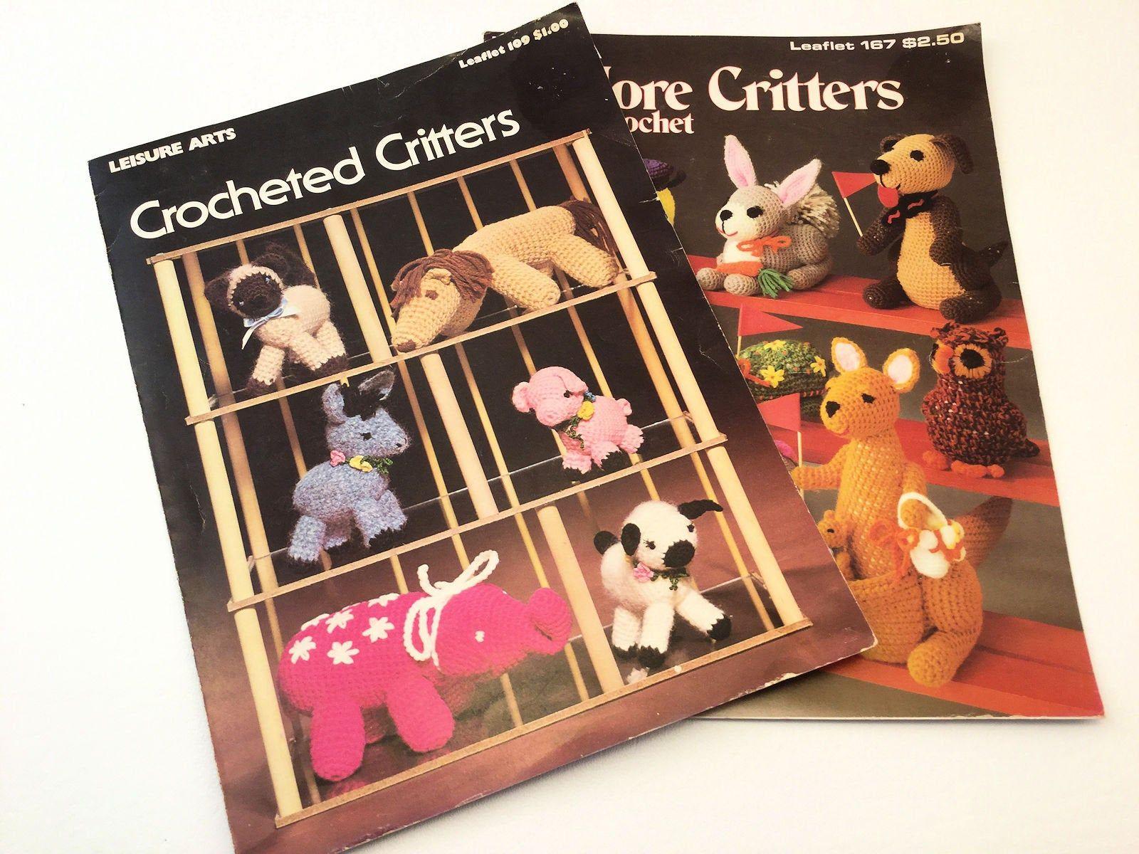 Crochet Critters, Leisure Arts 109, Leisure Arts 167, Animal Patterns, Crochet Animals, Giraffe Pattern, Kangaroo Pattern, Crochet Sheep