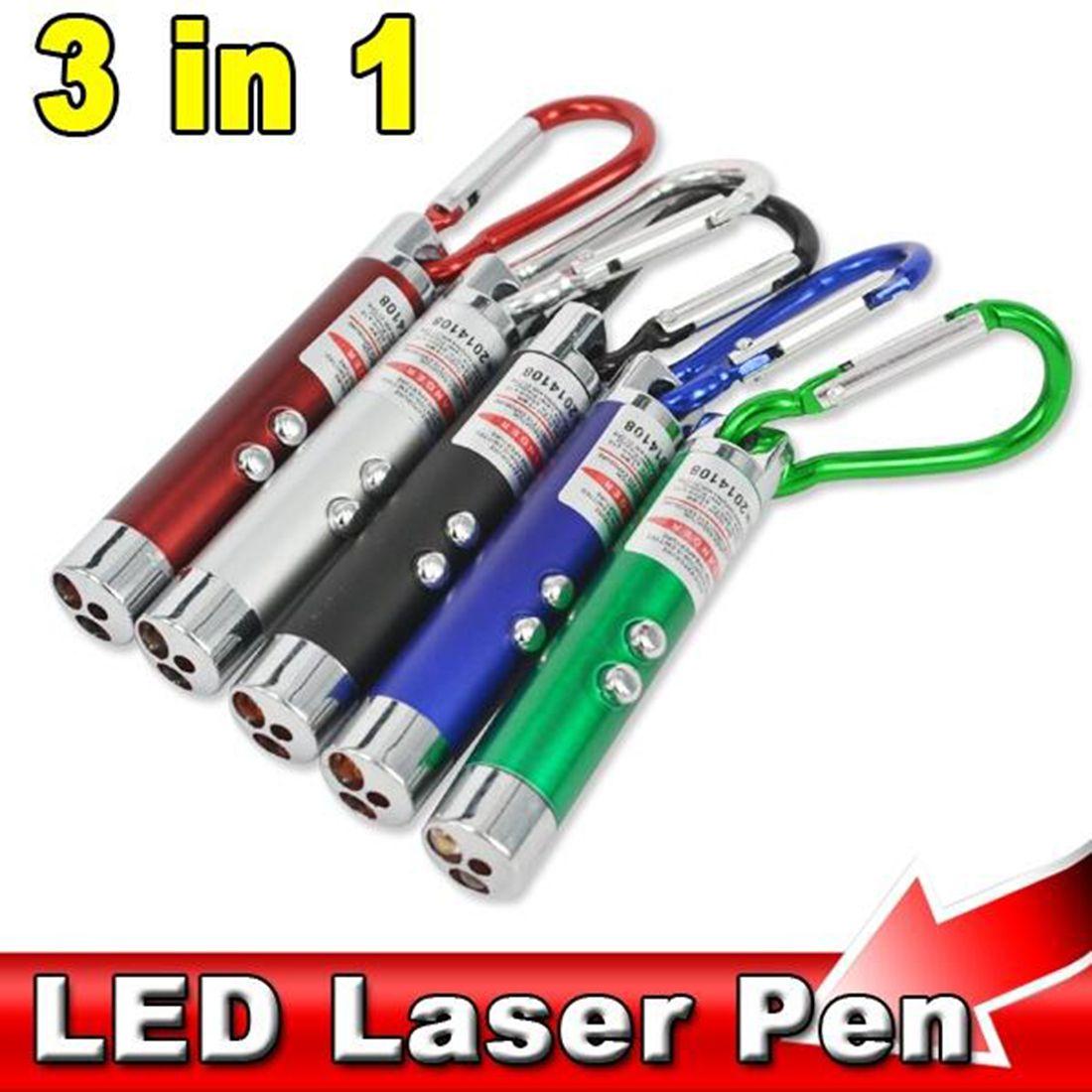 3 1 레드 레이저 포인터 펜 손전등 위조 지폐 감지기 등반 후크