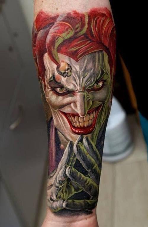 50 Verruckte Joker Tattoos Designs Und Ideen 15