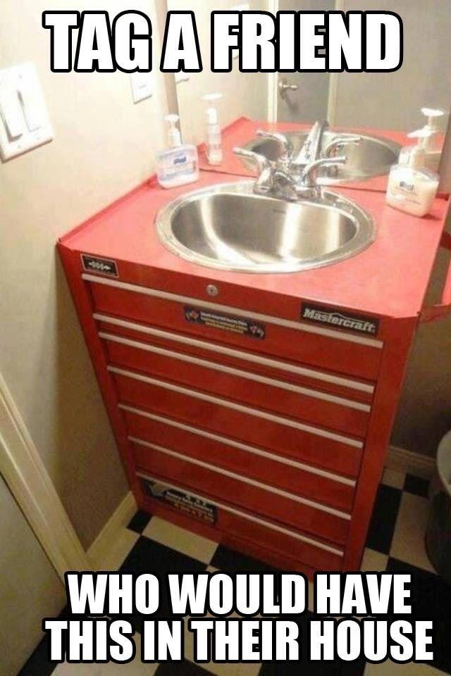 Bathroom sink for HIM!