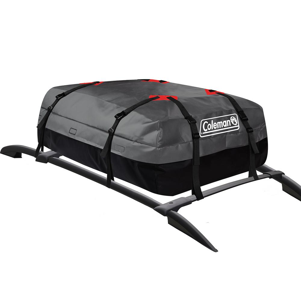 Coleman Waterproof Rooftop Cargo Bag With Storage Bag 10 Cu Ft Cm Wcc The Home Depot In 2020 Cargo Carrier Car Roof Storage Hitch Mounted Cargo Carrier
