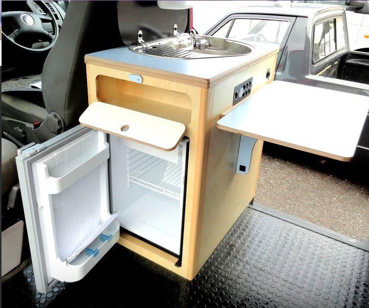 The pod weekend camper day van cambee van for Camper van kitchen units