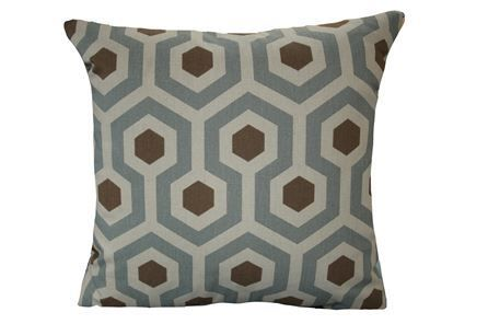Accent Pillow-Hexagon Cadet Blue 20X20 - Signature
