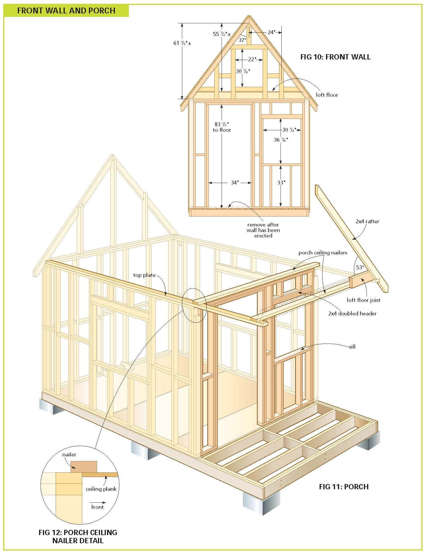 Free wood cabin plans for the home pinterest wood for Shed floor plans