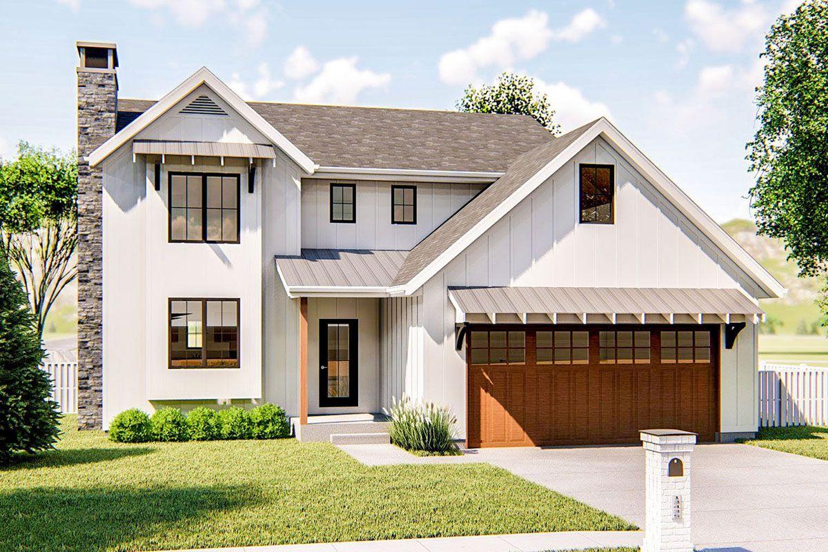 Plan 62760DJ FamilyFriendly 3Bed Modern Farmhouse Plan