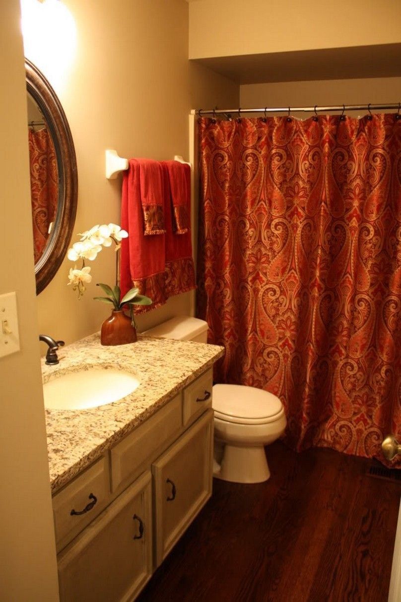 red and gold shower curtain808 x 1212
