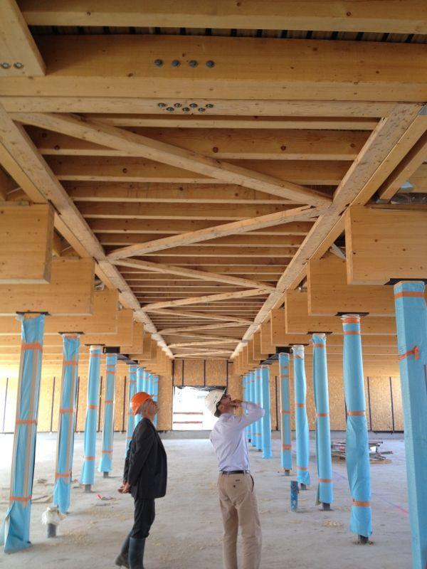Bois et paille pour une école du Fort d\u0027Issy - ADSC Architectes - maison bois et paille