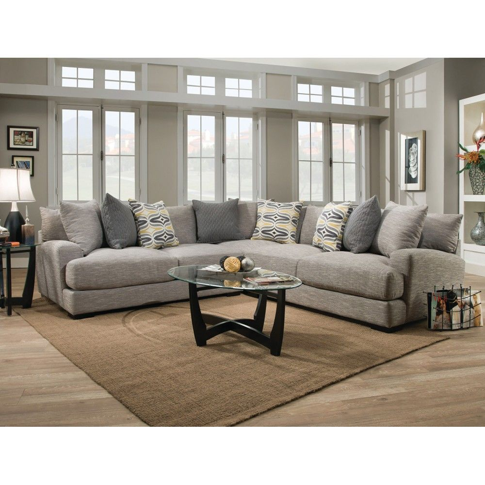Halo Living Room - LSF, RSF Loveseat & Wedge - Sectional - 8085935 ...