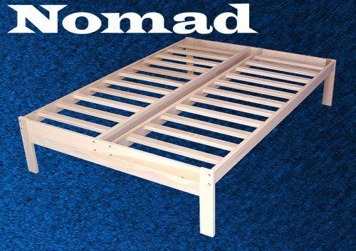 full size nomad platform bed frame solid hardwood world of futonshttp - Wood Platform Bed Frame Full