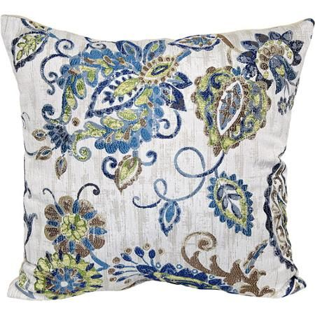 Better Homes and Gardens Painterly Jacobean Decorative Pillow, Multi-Color