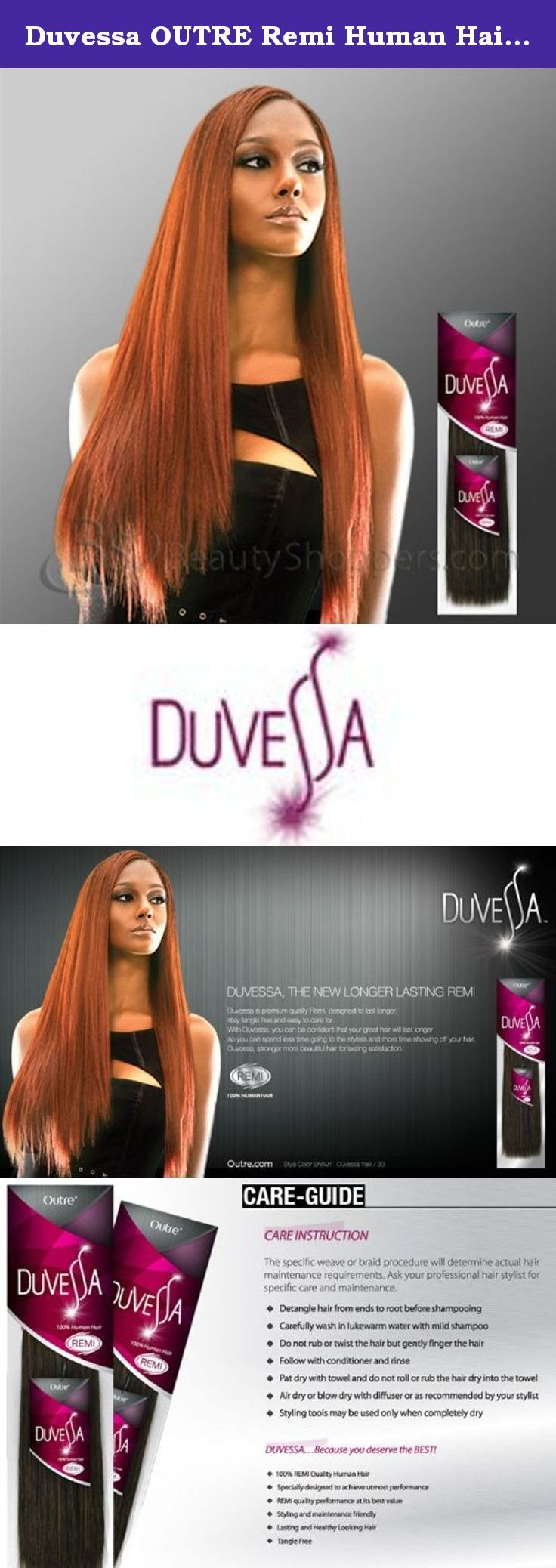 Duvessa Outre Remi Human Hair Weave Yaki 10 Color 1b Off Black