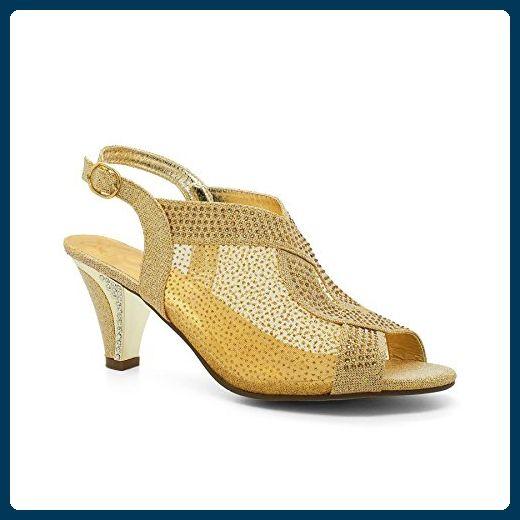 Damen Sandalen Gold gold London Footwear FIJwSr