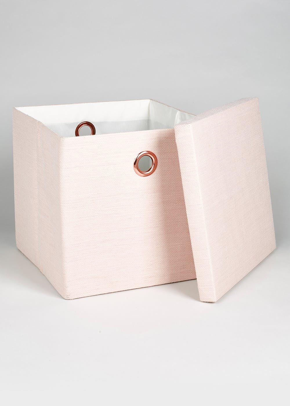 Foldable Fabric Storage Box 32cm X 32cm X 32cm Pink Fabric Storage Boxes Pink Storage Boxes Bedroom Storage Boxes