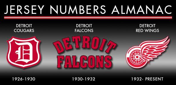 Jersey Numbers Almanac - Detroit Red Wings - History