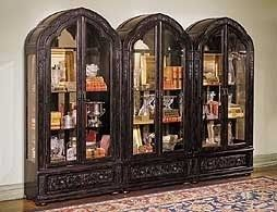 Broyhill Bunching Vitrine Curio Cabinets From Old World Or Gothic Collection No Longer Manufactured