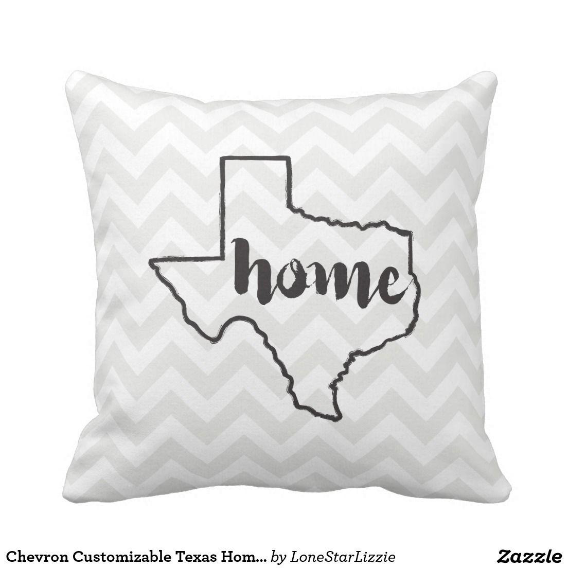 Chevron Customizable Texas Home Pillow