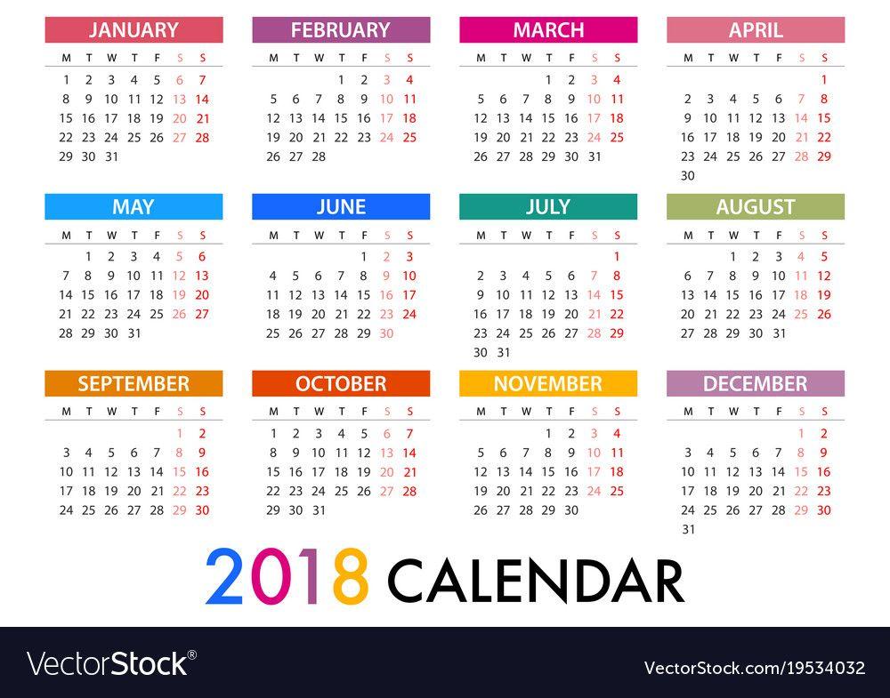2018 Monthly Calendar Printable Free New Calendar Template 2018