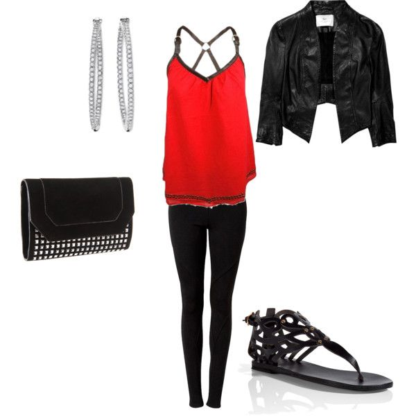 Red and Black, created by katie445 on Polyvore