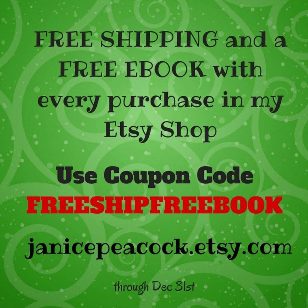Free shipping and a free ebook with coupon code