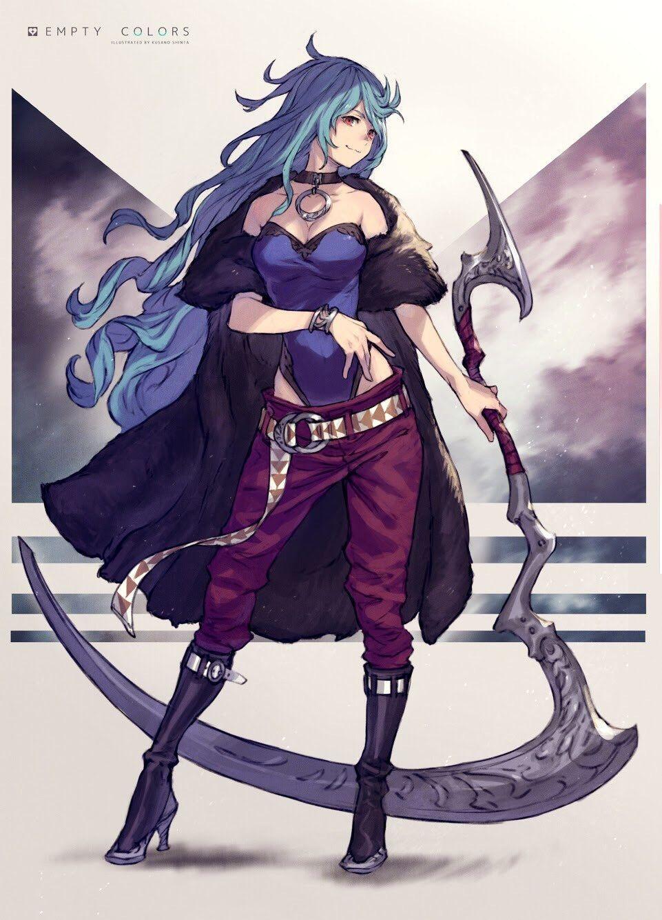 Scythe Anime Character Design Concept Art Characters Female Character Design