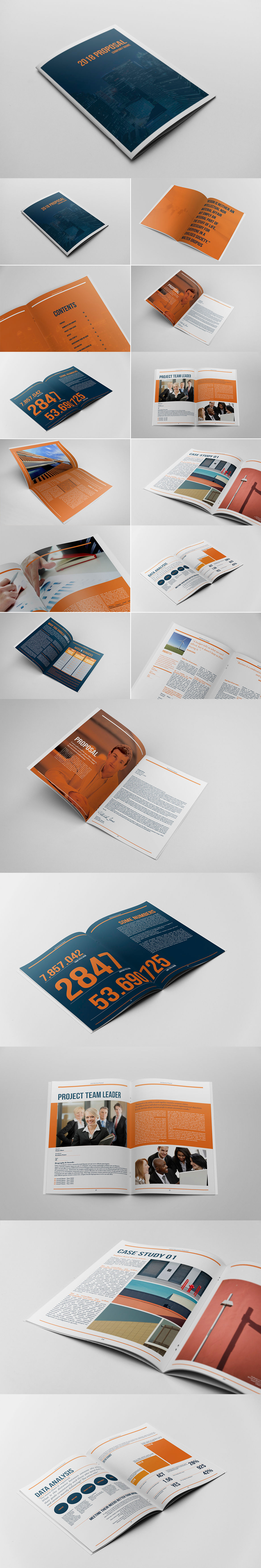 24 Pages Business Project Proposal Template InDesign