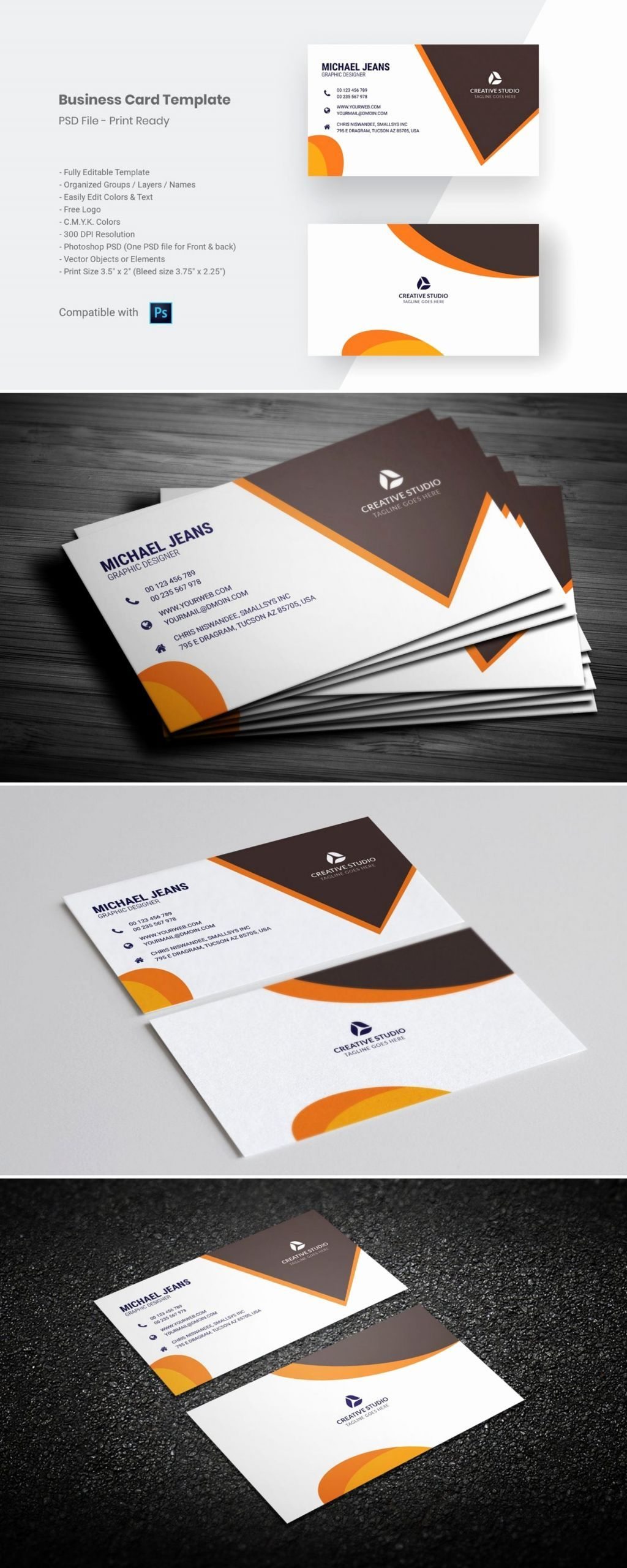 Professional Business Card Template Best Of Modern Business Card Template Business Card Template Design Modern Business Cards Business Card Template