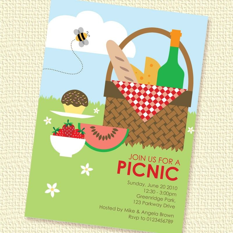 Invitation  Party Time    Picnic Invitations And Free