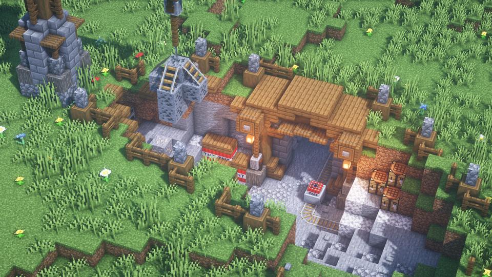 A simple mining camp. : Minecraftbuilds | Minecraft decorations, Minecraft  crafts, Minecraft art