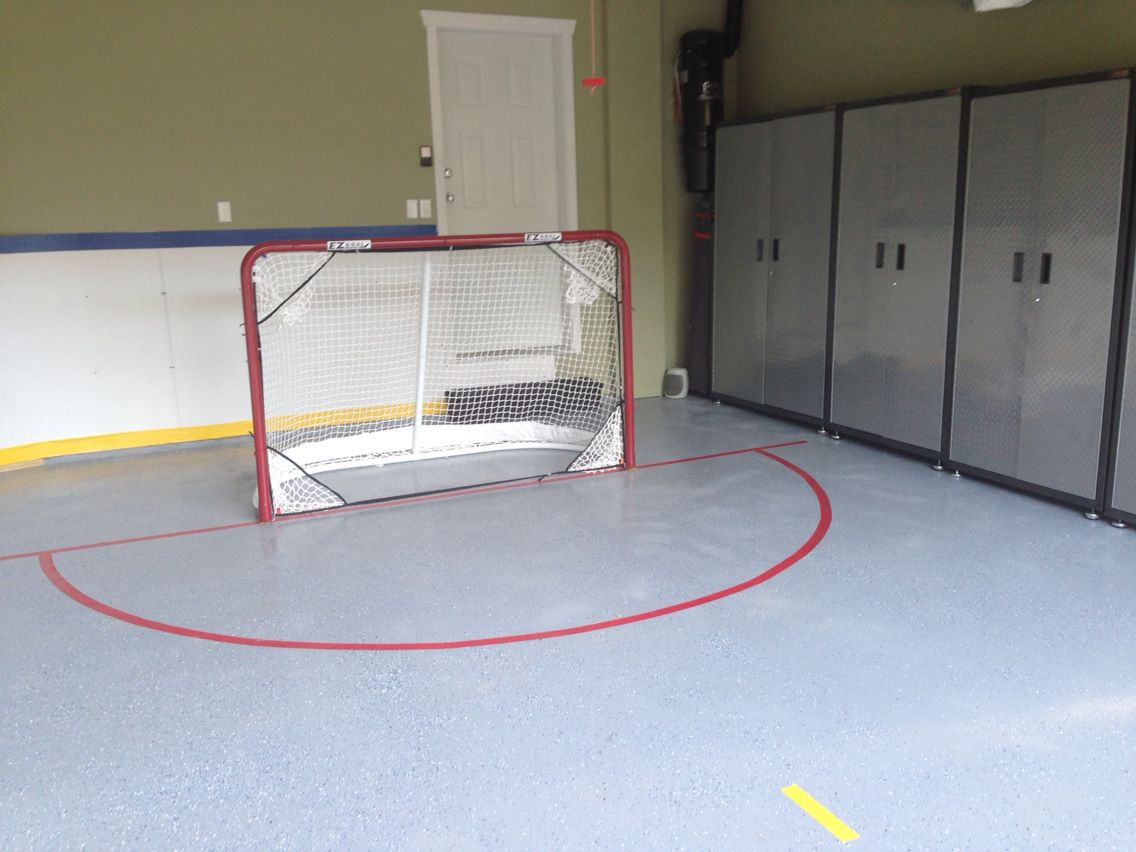 Our New Garage Hockey Rink Garage Renovation Garage Makeover Hockey Backyard ice rink kit reviews