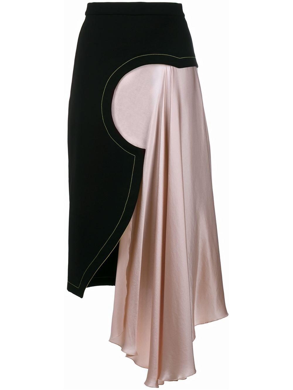 Roksanda asymmetric satin skirt | fave | Pinterest | Rock, Nähen und ...