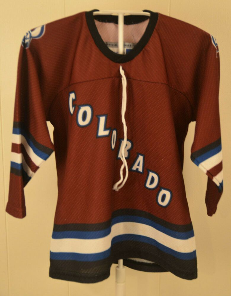 CCM Colorado Avalanche Youth Kids One Size (4-7) NHL Hockey Jersey  CCM   ColoradoAvalanche 377985fed