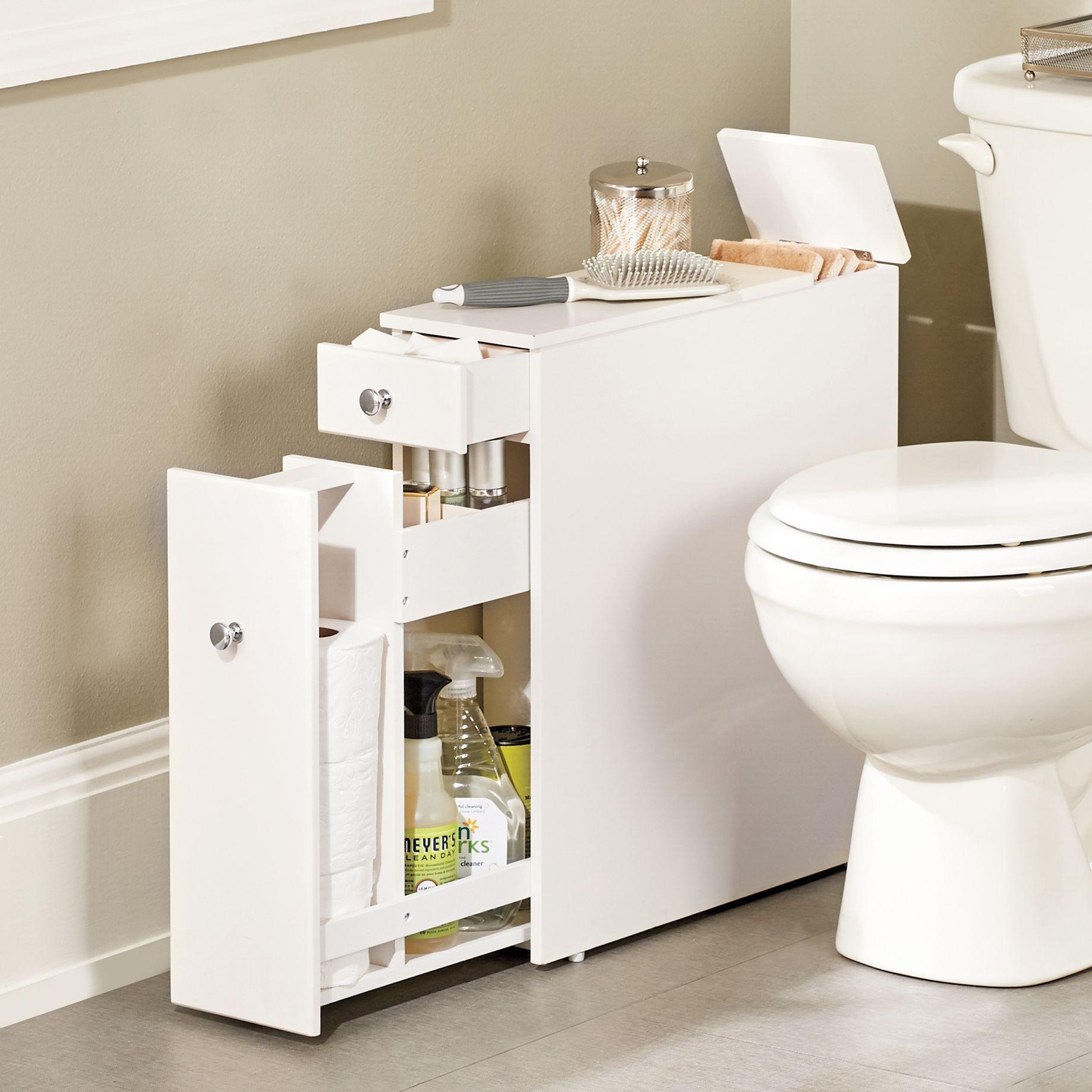 Bathroom Toilet Narrow Floor Storage Bath Cabinet Organizer Unit Side Table With Drawers Slim Storage Cabinet Slim Bathroom Storage Clever Bathroom Storage