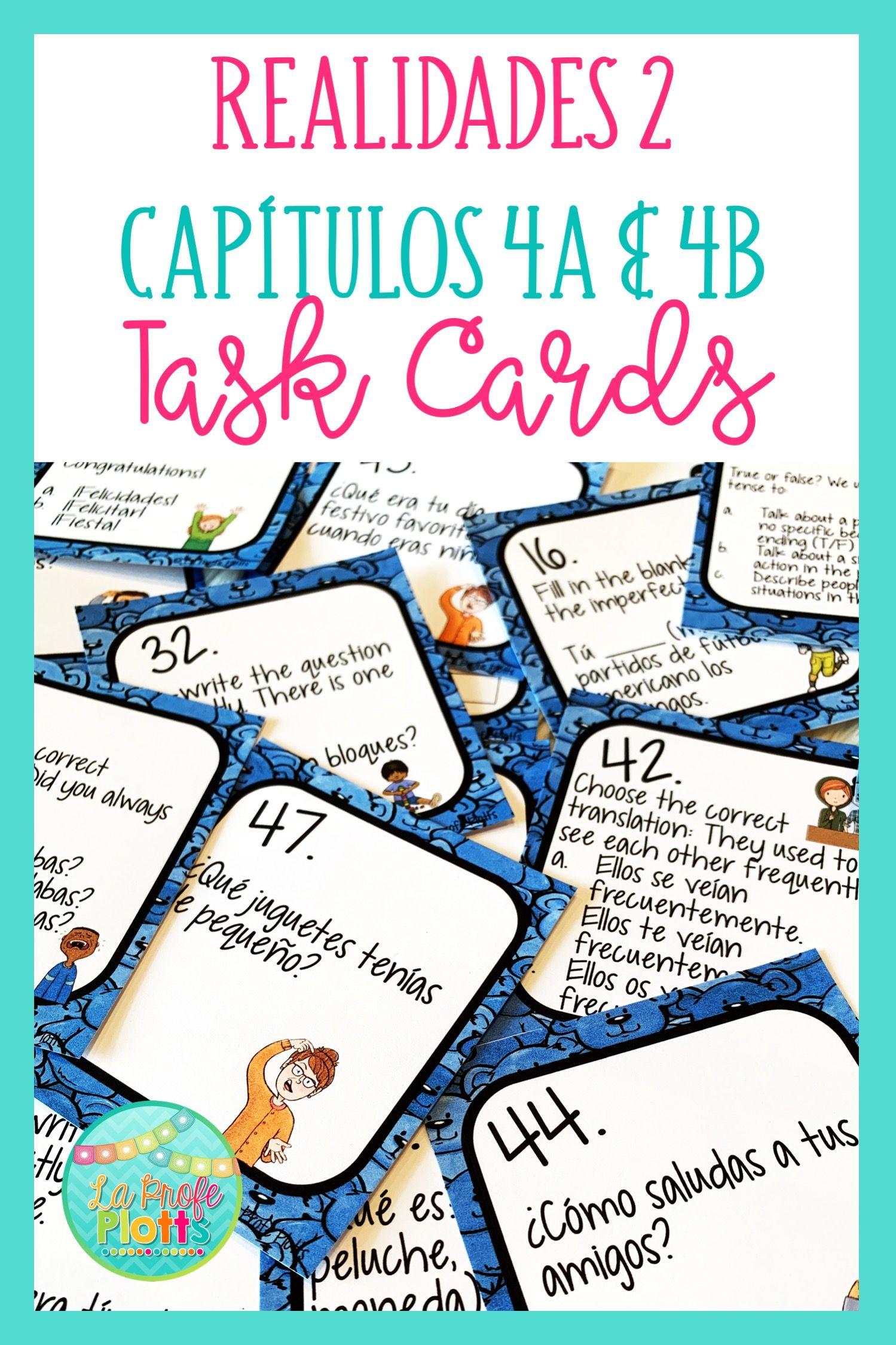 48 Realidades 2 Capitulos 4a Amp 4b Task Cards