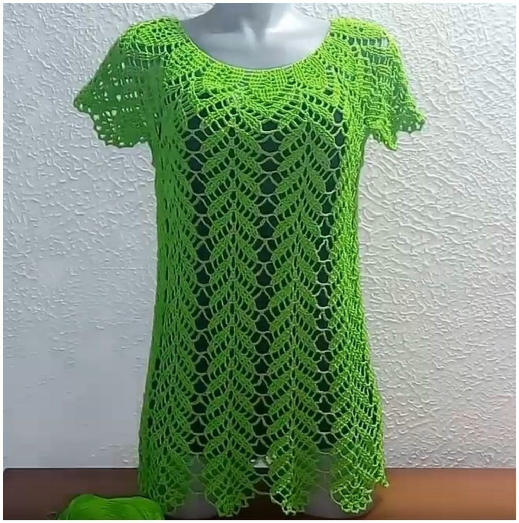 Crochet Lemon Leaves Blouse Tutorial