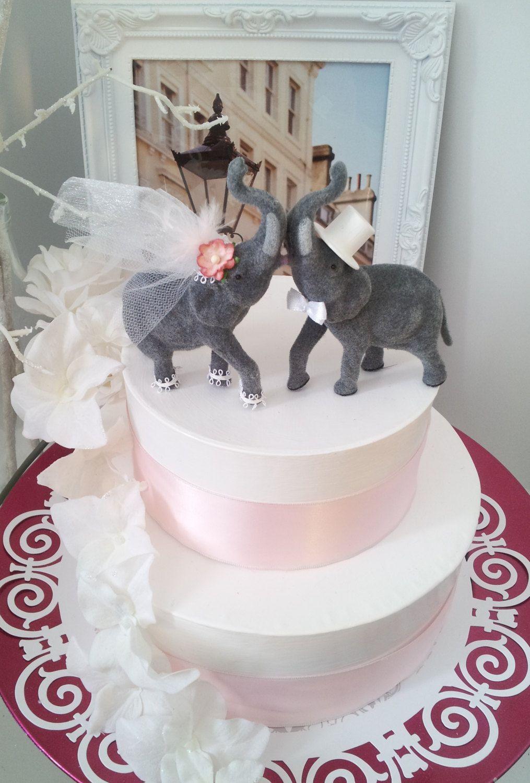 Small Lucky Elephant Wedding Cake Topper