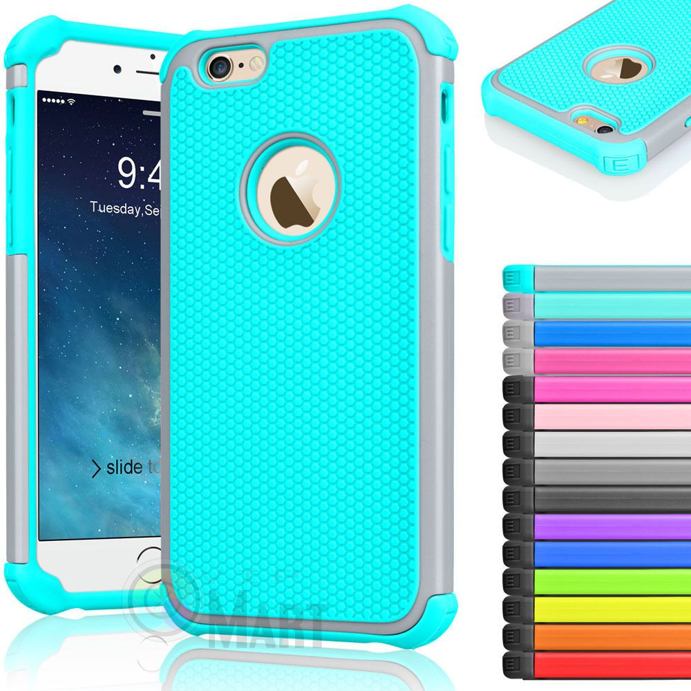 super popular 1d10a d83b1 Details about Rugged Rubber Hard Shockproof Cover Case for iPhone 8 ...