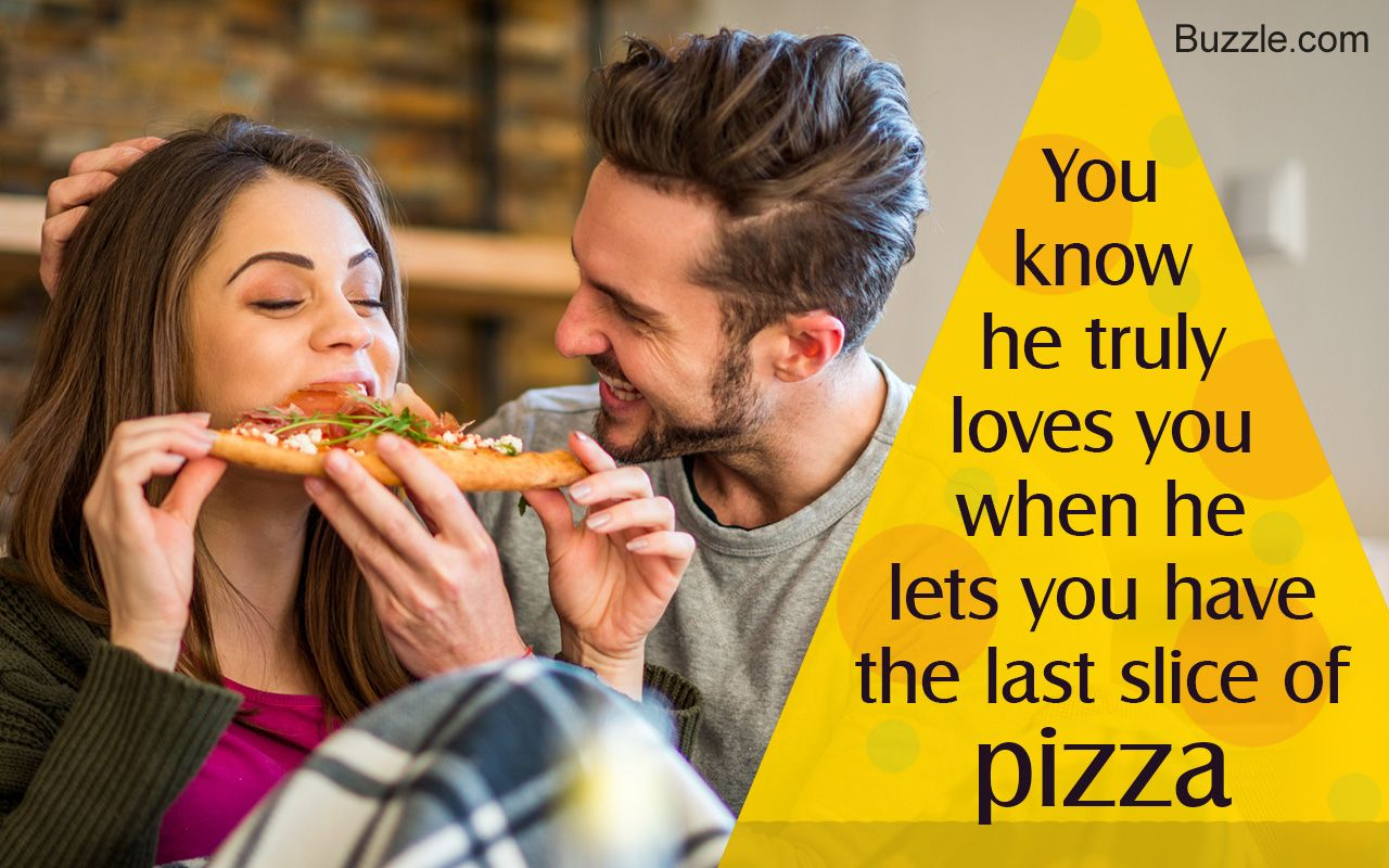 Young Couple Eating Pizza Funny Love Love Quotes Romantic Quotes