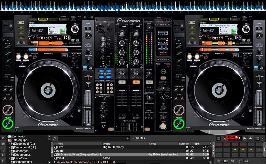 skin pioneer cdj 2000 pour virtual dj gratuit