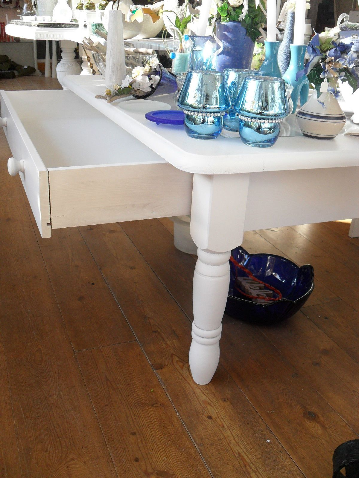 Tisch Couchtisch Schublade Weiß Shabby Glastisch Ebay Diy Möbel