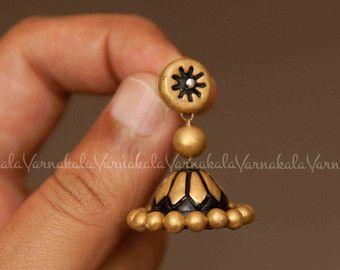 BLACK GOLD Handmade Terracotta Clay Jewelry A by Varnakala
