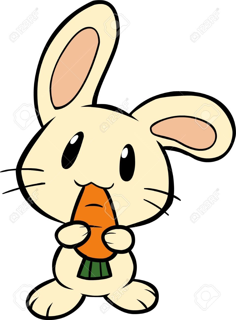14631460 bunny eating a carrot stock vector rabbit cartoon bunny